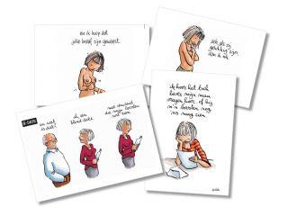 A3-pancarte cartoon Bevolkingsonderzoek Borstkanker (geplastificeerd)